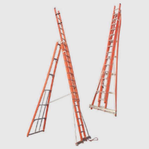 Escalera Dieléctrica Tijera Simple Acceso Extensible con Bastidor ...